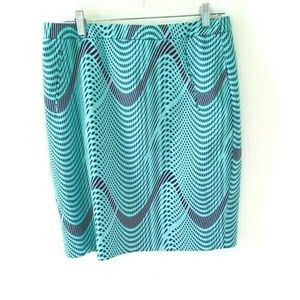 Halogen Abstract Wave Pencil Skirt 10